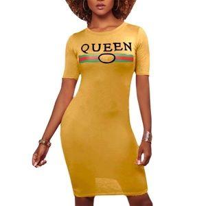 Queen print dress